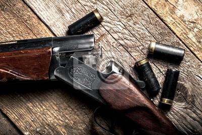 Posters Fusil de chasse, chasse, pistolet.