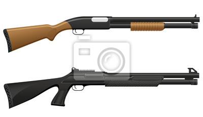 Posters fusil de chasse illustration vectorielle