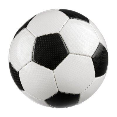 Posters Fußball auf Weiß reinem