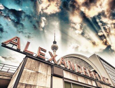 Posters Gare Alexanderplatz à Berlin - Allemagne