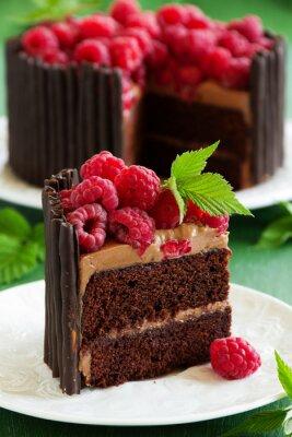 Posters Gâteau au chocolat aux framboises.
