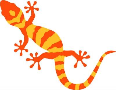 Posters Gecko avec motif orange et jaune