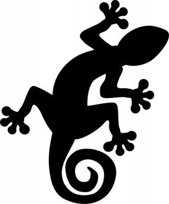 Posters Gecko lizard silhouette