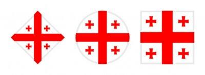 Posters georgia flag icon set. isolated on white background