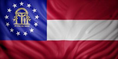 Posters Georgia State flag
