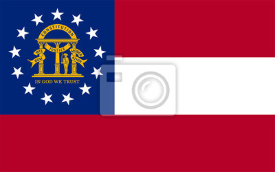 Posters Georgia State Flag Vector
