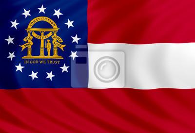 Posters Géorgie drapeau de soie