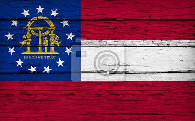 Posters Géorgie, état, drapeau, grunge, fond