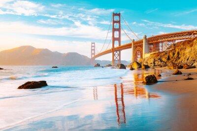 Posters Golden Gate Bridge at sunset, San Francisco, California, USA