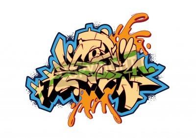 Posters Graffiti conception vecteur de croquis, mot STORM. Ceci est mon illustration.
