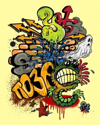 Posters Graffiti éléments.