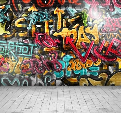 Posters Graffiti on wall, eps 10