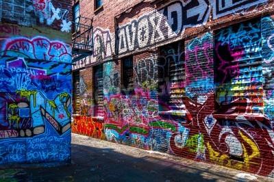 Posters Graffiti sur les murs de graffitis Alley, Baltimore, Maryland.