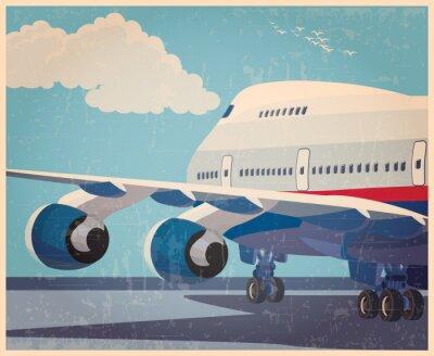 Posters Grand aéronef civil vieux poster