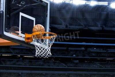 Posters Grande arène de basket-ball avec copyspace
