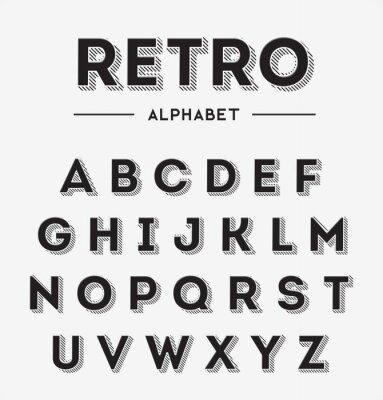 Posters Graphique Rétro Lettres Set