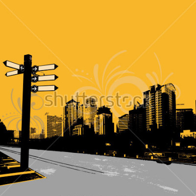 Posters graphisme urbain moderne grunge