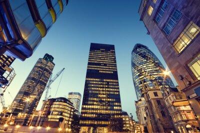 Gratte-ciel dans la ville de Londres,