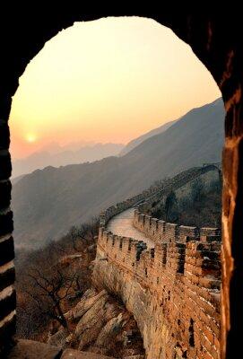 Great Wall coucher du soleil