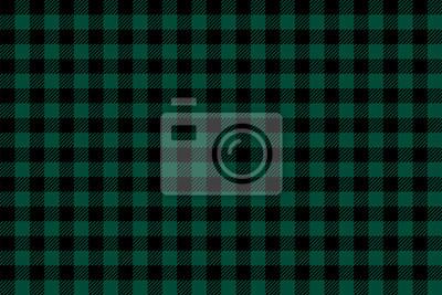 Posters Green black Lumberjack plaid seamless pattern