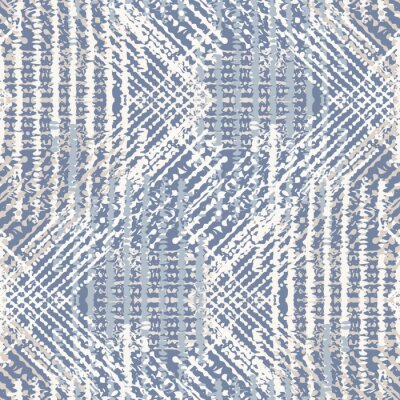 Posters Grey french linen vector texture seamless pattern. Brush stroke grunge ornamental woven abstract background. Country farmhouse style textile. Irregular distressed marks all over print in gray blue.