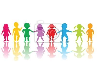 Groupe d'enfants de couleur