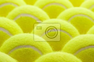 Groupe de balles de tennis