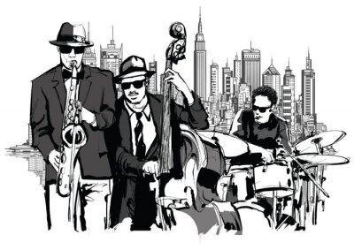 Posters Groupe de jazz à New-York