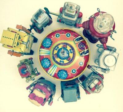 Posters Groupe de jouets robot