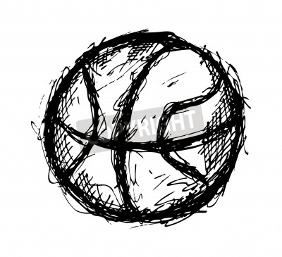 Posters Grunge basketball doodle