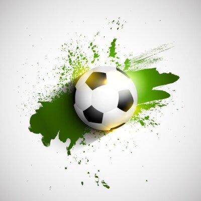 Posters Grunge de football / soccer ball fond