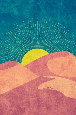 Posters Grunge desert dunes
