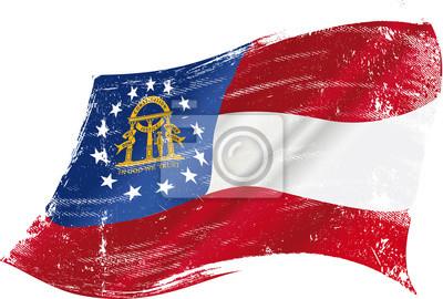 Posters Grunge drapeau de la Géorgie