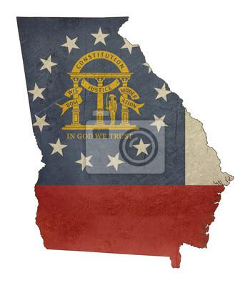 Posters Grunge état de l'Illinois Carte de drapeau
