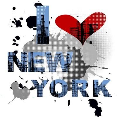 Grunge fond avec le texte New York