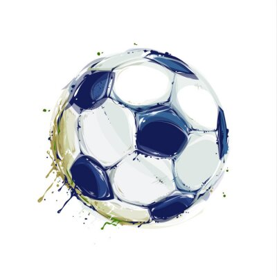 Posters Grunge Soccer Ball