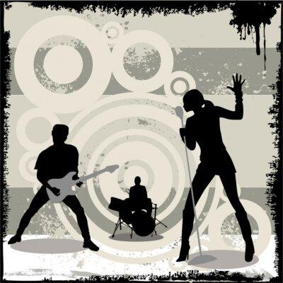 Posters grunge vecteur concert