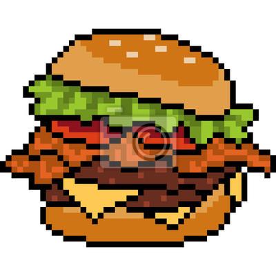 Posters Hamburger De Vecteur Pixel Art