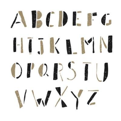 Posters Hand-drawn Doodles Alphabet