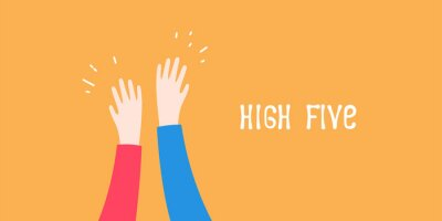 Posters High five icon simple illustration