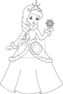 Coloriage De Princesse.Hiver Coloriage Princesse Affiches Murales Posters Belle Histoire