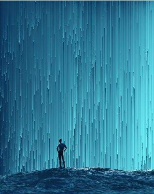 Posters Homme, regarder, numérique, flot