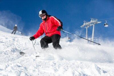 Posters Homme ski skieur à la station de ski