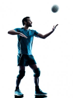 Posters homme volleyball silhouette