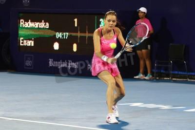 Posters Hua Hin, Thaïlande - 1er janvier 2016: Agnieszka Radwanska est classée 5e au monde. Championnat du monde de tennis de Thaïlande 2016 au club de sport True Arena Hua Hin, Prachuap Khiri Khan.