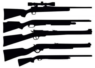 Posters Hunting rifle and shotgun in the kit.
