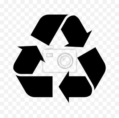 Posters icône de symbole de recyclage