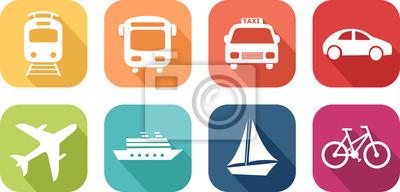 Posters Icône de Vehicules de transport