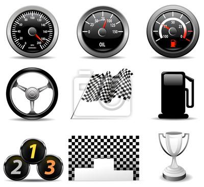 icônes de course