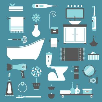 Posters icônes de salle de bains